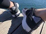 Erthe over hak van schoen