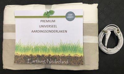 Premium Universeel Aardingsonderlaken 100cm breed (1 persoons), met alleen aansluitsnoer